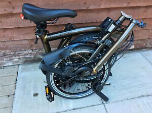 BROMPTON H6L BLACK LACQUER BLACK EDITION 6 SPEED FOLDING BIKE WORLDWIDE POSTAGE