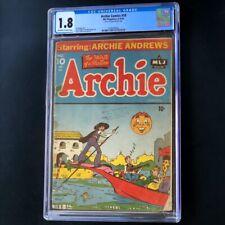 Archie Comics #10 (1944) 💥 CGC 1.8 OW-W 💥 MLJ Betty Veronica Jughead Comic