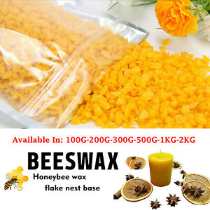 100G-5KG/Bag Organic Yellow Beeswax Pellets Pure Bee Wax No Add Easy Melt Beewax