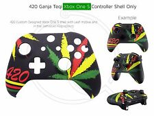 New Xbox One S Controller 420 Weed Kush Ganja Front Shell Unique Finish Mod