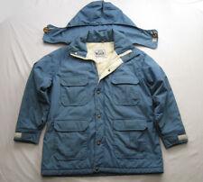 Vintage Woolrich Hooded Parka Coat Winter (L) Women's Blue Full Zip-up Outdoor