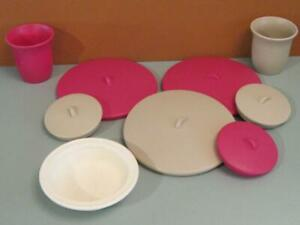 Step 2 LifeStyle Deluxe Kitchen Toy Replacement 6 LIDS 4 pot/pans Cups Play Dish