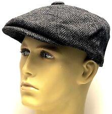 Peaky Blinders 100% Wool Newsboy Baker Boy Gatsby Hat Herringbone Cap Flat Mens