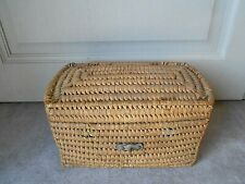 Vintage French country Wicker Basket Box
