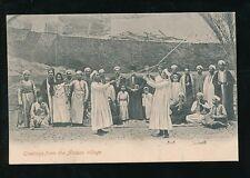 Egypt Greetings from the ASSUAN Village stick fight c1902 u/b PPC