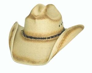 New SOUTHFORK RANCH 20X Palm Leaf Straw Western Cowboy Hat Bullhide MonteCarlo