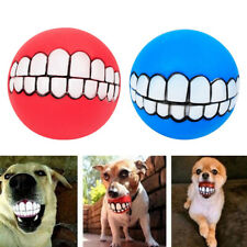 2 Pcs Dog Squeaky Chewing Fetch Ball Toy for Large Medium Dogs Blue&Red
