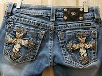 Miss Me Bermuda Denim Shorts Distressed. Size 27 Rise 7 Waist 15=30X11