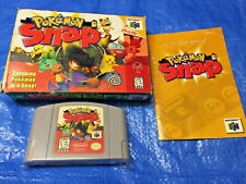 Authentic Nintendo 64 Pokemon Snap Game Box Complete N64