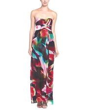 NWT Nicole MIller Empire floral strapless evening cocktail prom dress 10