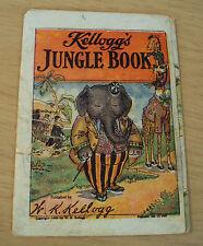 "Antique 1909 NOVELTY Cereal Premium~""KELLOG'S JUNGLE BOOK""~Flip Body Parts~"