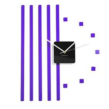 Reloj de pared Hazlo tú mismo Grande Púrpura Moderno Decoración Hogar Sala Dormitorio Cocina