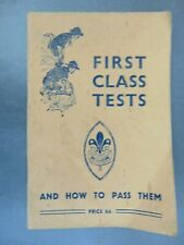 More details for vintage 1941 boy scouts booklet first class tests & how to pass them
