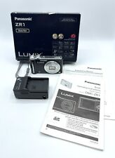 Panasonic LUMIX DMC-ZR1 12.1MP Digital Camera with 8x Zoom - Black w Charger Box