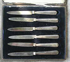 Fruit Knives Sterling Early 1900s Sheffield Boxed