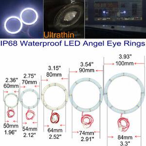 2PCS Waterproof LED Halo Rings Foglamp Rings DRL Halo rings White 7000K 12V DC