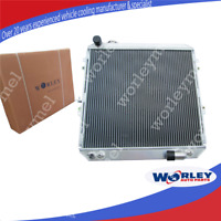 QLD 2 Rows 50mm Aluminum Radiator for HILUX LN106 LN111 Diesel 1988-1997 AT/MT