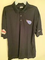 *OFFICIAL* Tennessee Titans Nike Golf Dri-Fit Coors Light Black Polo Men's Large