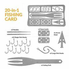Survival Outdoor 20-1 Multi Functional Fork Fishing Hooks Needles Lures Arrow