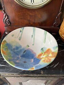 "Lovely Poole Pottery Janice Tchalenko Designed ""Iris""  Bowl"