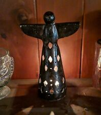Bronze Angel Votive Candle Holder 8.5 Inches Tall