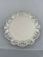 More details for antique silver drinks tray 21cm sheffield 1906 martin hall & co sterling salver