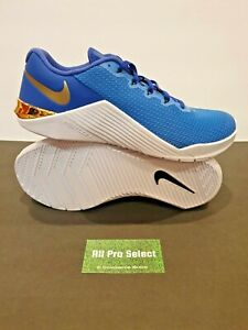 New Nike by You ID Metcon 5 Cross Training Shoes Athletic Gym 10 Blue-White-Gold