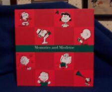 Snoopy Christmas Keepsake Album Card Holder Memory Book Peanuts Harper Collins