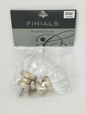 Cambria Classic Complete Luminous Finial Brushed Nickel Curtain Rod Set of 2