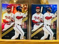 🔥⚾️🔥 2019 Topps Gold Label Bryce Harper 2 Card Lot!!! 🔥⚾️🔥
