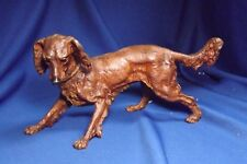 "Antique German Spelter Cold Painted IRISH SETTER GREAT PAINT & DETAIL 103/4""LONG"