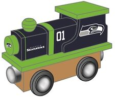 Seattle Seahawks Wooden Toy Train [NEW] NFL Wood Christmas Kids Boys Gift Set