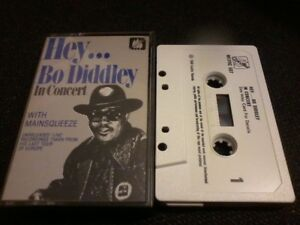 BO DIDDLEY Hey Bo Diddley In Concert Bo's The Man audio cassette tape POST FREE