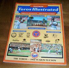 VINTAGE 1987 TUCSON TOROS ILLUSTRATED - TOROS PROGRAM - HOUSTON ASTROS AFFILIATE
