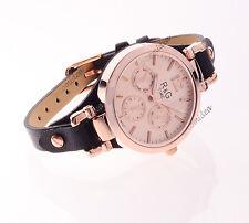 OROLOGIO R&G TIME DONNA PELLE NERO COLORE ORO MOVIMENTO GIAPPONESE montres