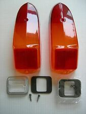 MG MGB MIDGET REAR STOP TAIL LAMP LIGHT LENS KIT 70 - 80 SET