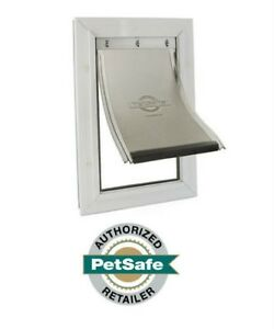PetSafe Freedom Aluminum Pet Door White X-Large PPA00-10862