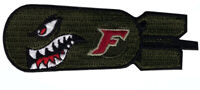 Dropping F-cking F Bomb WW2 Style Shark Teeth VELCRO® BRAND Hook Fastener Patch