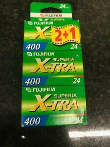 3x Fujifilm Superia Xtra 400 24 exp  35mm film  expired film agfa