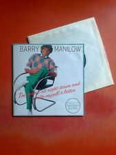 """BARRY MANILOW I'm Gonna Sit Right Down And Write Myself A Letter 7"""" Vinyl Poster"""