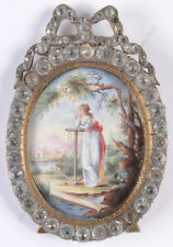 """Faithful wife"", Swiss enamel miniature, late 18th century"