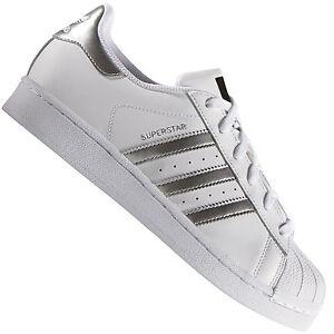 adidas Originals Superstar Herren-Sneaker Weiß/Silber Turnschuhe Sportschuhe