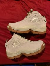 Fila Sports Men's 96 QUILTED Shoes Cream/Gum size-8.5 Vnds Worn 1x No Box