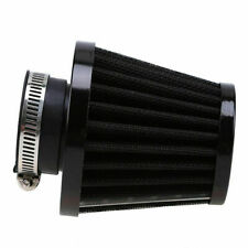 Pair 47mm/48mm/49mm Air Filter Intake Pod Cleaner Universal fit Motorcycle Black