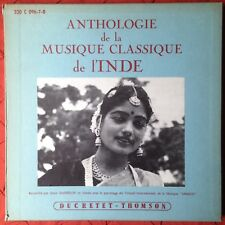 Early Shankar Anthologie Musique l'Inde 3 x LP Box Set Ducretet-Thomson Danielou