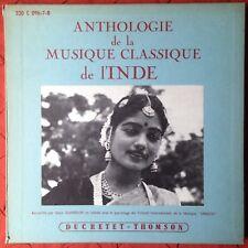 Early Shankar Anthologie Musique l'Inde 3 x LP Box Set Ducretet-Thomson Danielou