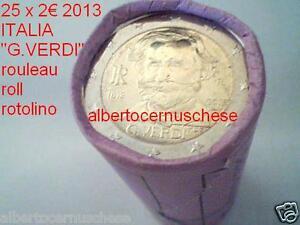 25 x 2 euro 2013 ITALIA 200 anni nascita Giuseppe VERDI italie italien italy
