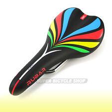 RUBAR Bike  Saddle , Black x Colorful Pattern