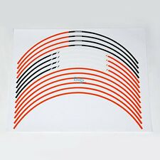 "Orange 17"" Wheel Sticker Rim Decals Strips For KTM RC Duke 125 200 390 1290 MO"