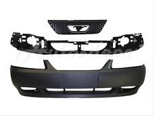 Bundle for 1999-2004 Mustang Gt Front Bumper Primed Cover Header Panel Grille 3P